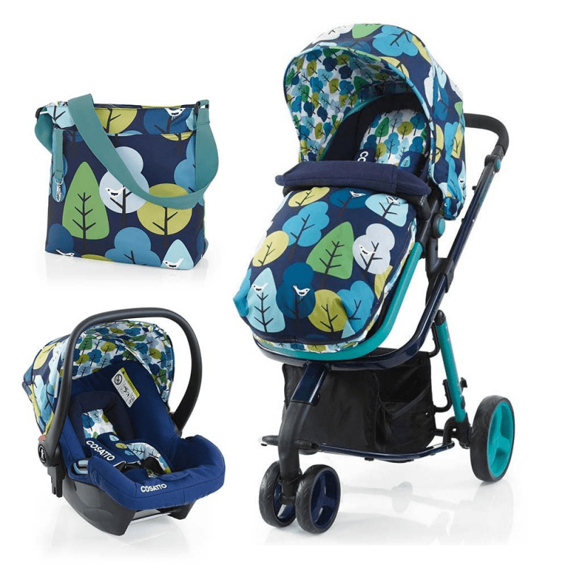 Cosatto Woop 3 in 1 Travel System - Nightbird - Free Car Seat Included