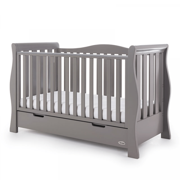 Obaby Stamford Luxe Cot Bed - Taupe Grey