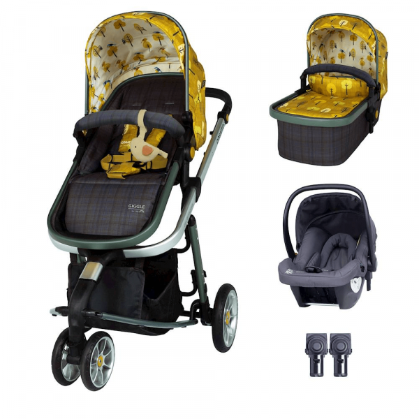 Cosatto Giggle 3 Travel System & Hold Group 0+ Car Seat Bundle - Spot The Birdie