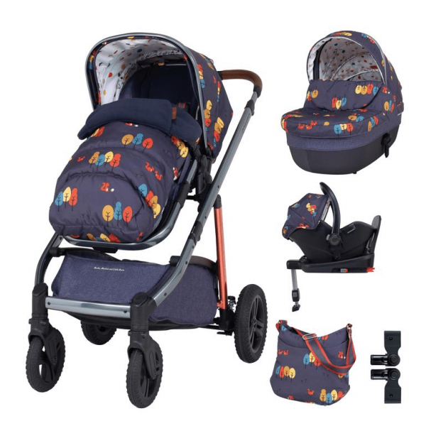 Cosatto Wow Continental Everything Travel System Bundle (Incl. i-Size 0+ Car Seat & Base) - Parc