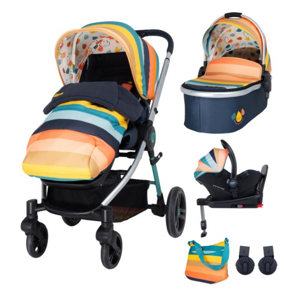 Cosatto Wowee Everything Travel System Bundle (Incl. i-Size 0+ Car Seat & Base) - Goody Gumdrops