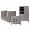 Obaby Stamford Classic Sleigh 3 Piece Room Set - Taupe Grey